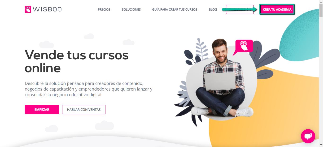 Sitio web Wisboo